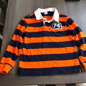 Gymboree boys striped long sleeve polo shirt